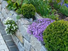 Mauer aus Granit